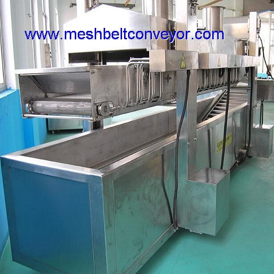 Continuous Conveyor Fryer For Snacks