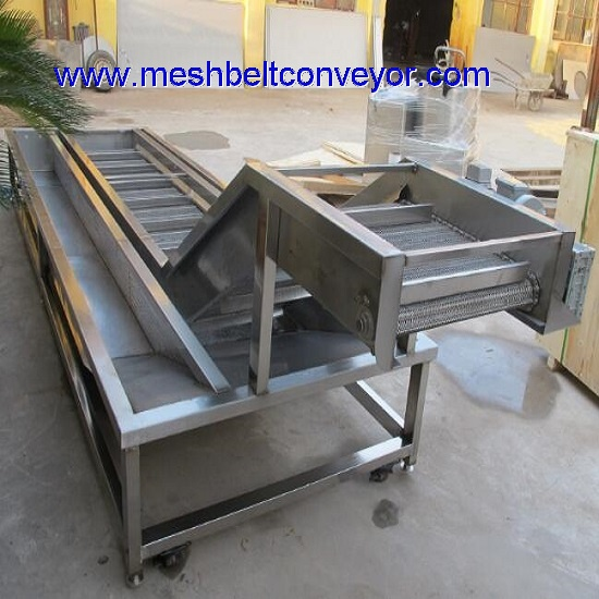 Seafood Ice Coating Mesh Belt Machine
